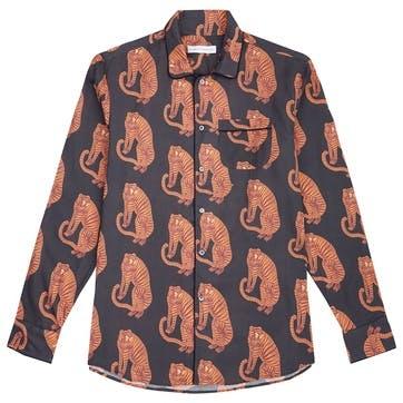 Tiger Collared Pyjama Shirt, Small