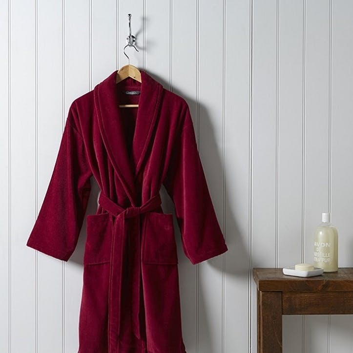 Supreme Supima Hygro Raspberry Bath Robe, Small