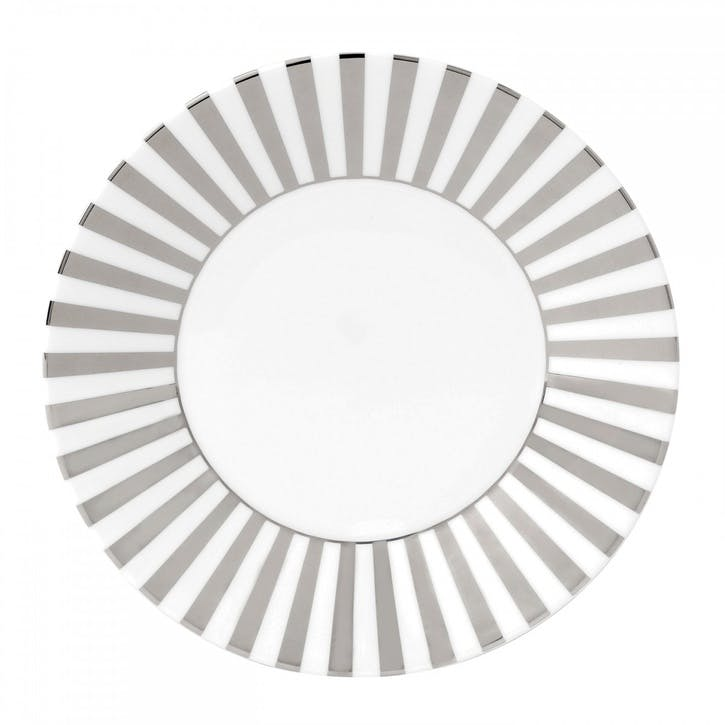 Platinum Salad Plate, Striped