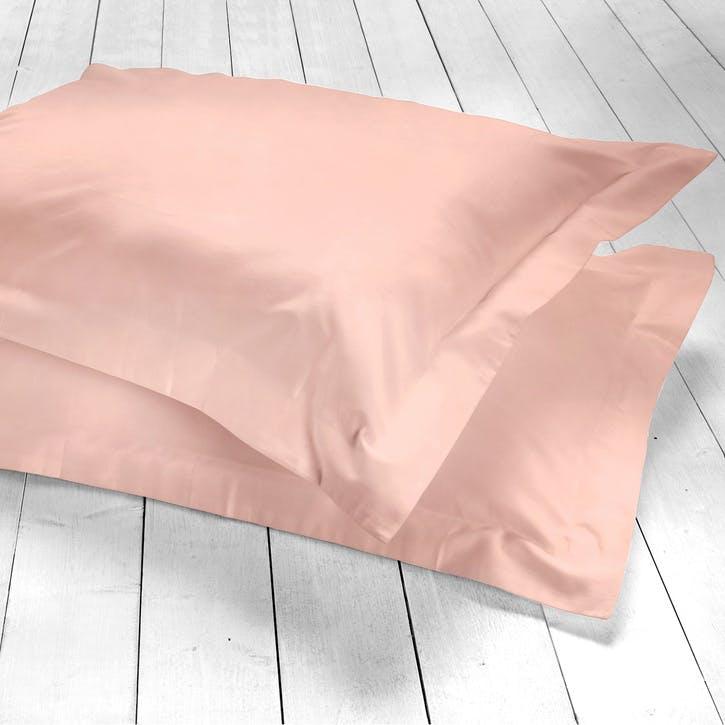 Pure Oxford Pillowcase, Set of 2, Blush
