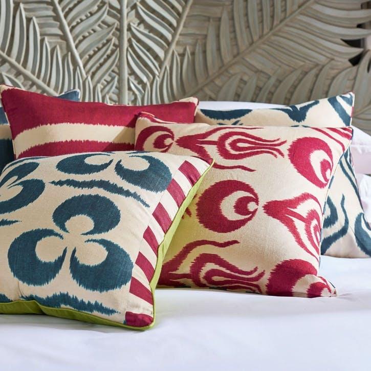 Bohlam Cushion, Red/ Dark Blue