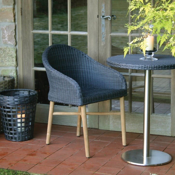Harris Outdoor Dining Chairs, Set of 2; Slate
