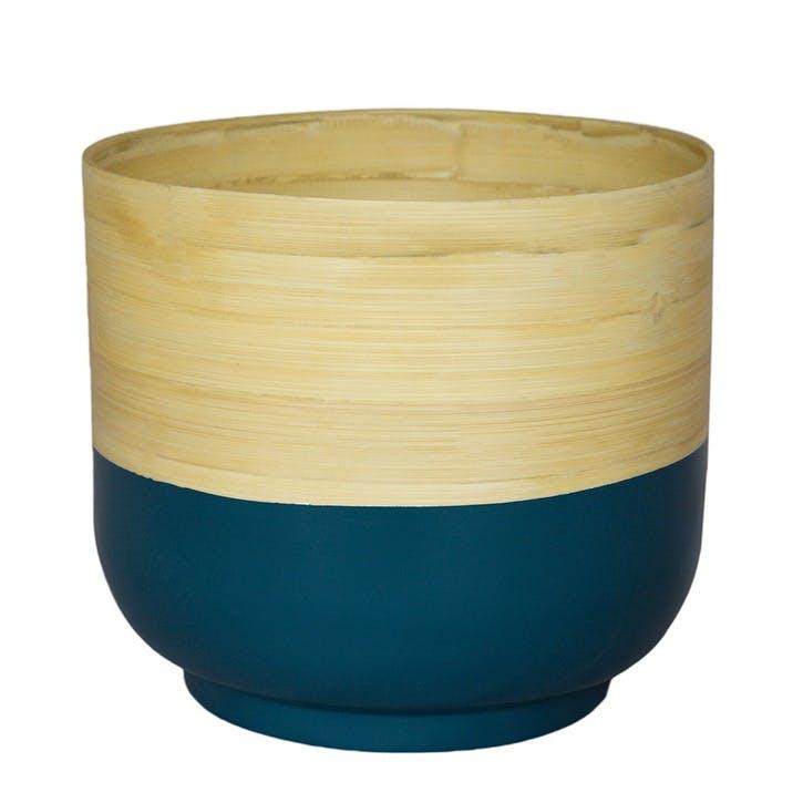 Bamboo, Planter, 23cm, Teal
