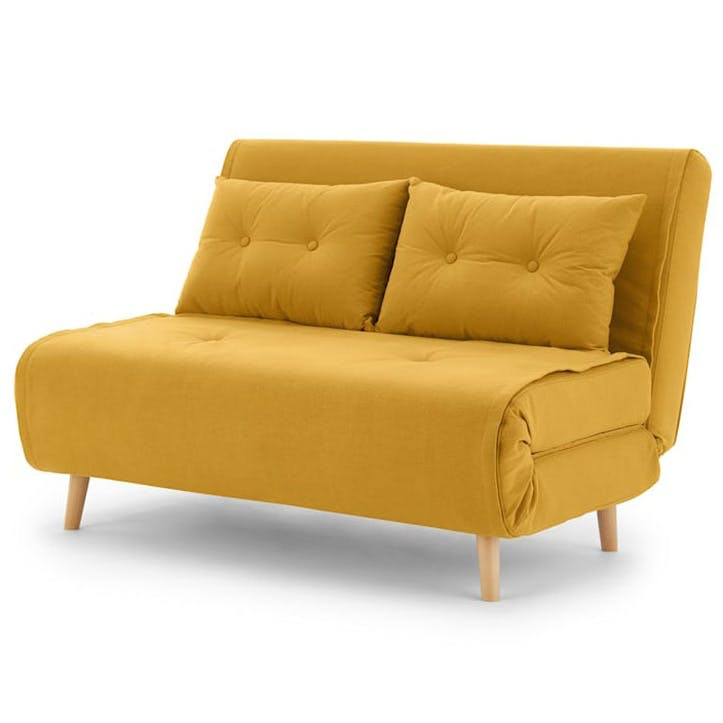 Haru Sofa Bed - Double; Butter Yellow