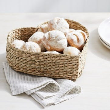 Seagrass Heart Shaped Bread Basket