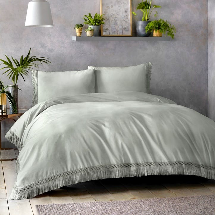 Tempest Bedding Set, Super King, Silver