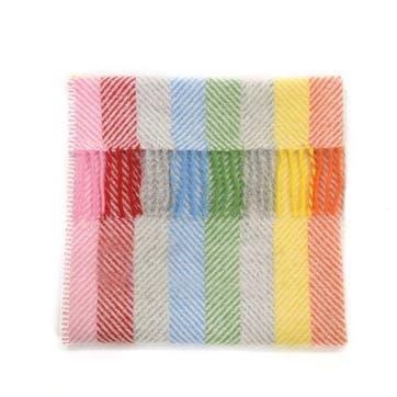 Wool Pram Blanket, Rainbow