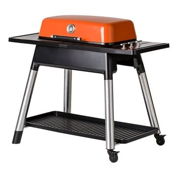 Furnace Gas Barbeque With Stand, Orange