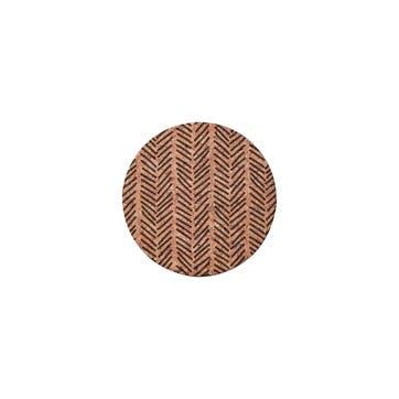 Monochrome Cork Coasters, Set of 4