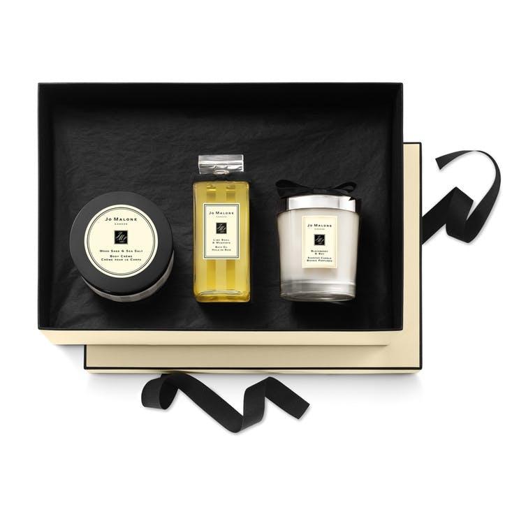 Home Candle, Bath Oil & Body Créme Gift Set