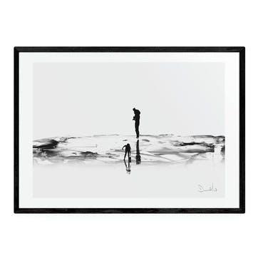 Dan Hobday, On the Beach Framed Art Print