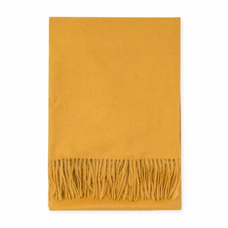 Alpaca Throw, Mustard