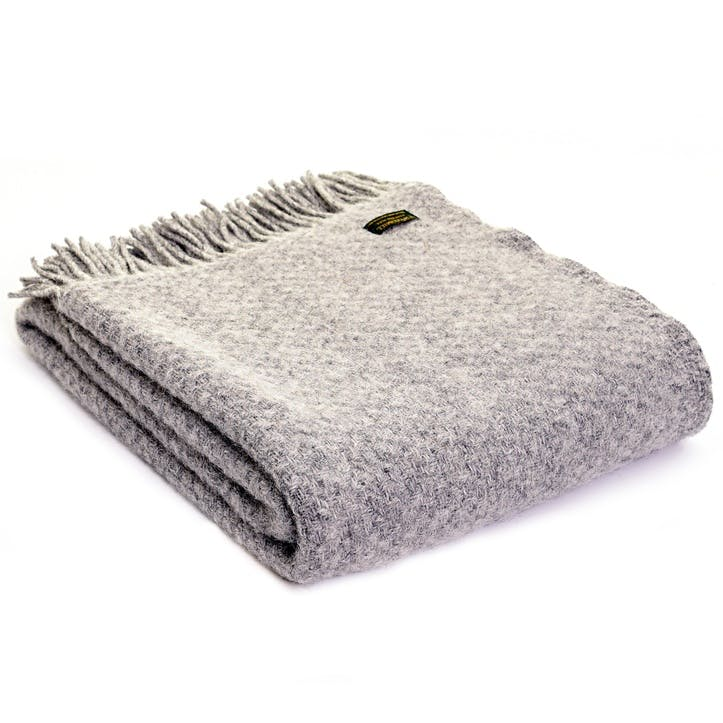 Wafer Throw; Silver Grey