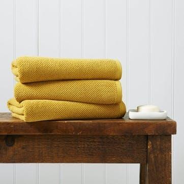 Brixton Pair of Bath Sheets, Saffron
