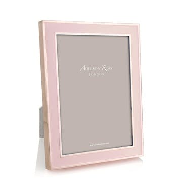 """20mm Rose Gold and Enamel Photo Frame - 5"""" x 7""""; Pink"""
