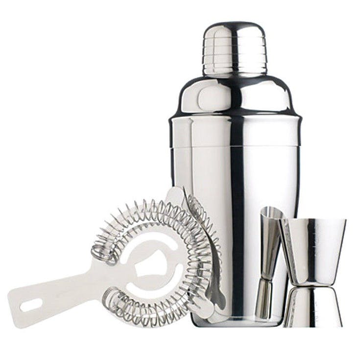 3 Piece Cocktail Set, Stainless Steel