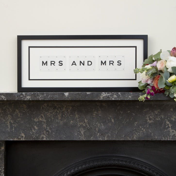 'Mrs & Mrs' Word Frame
