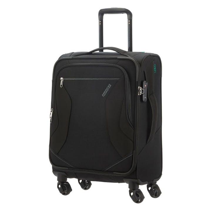 Eco Wanderer Spinner Suitcase, 55cm, Black