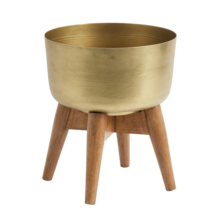 Brass Planter on Stand, Small