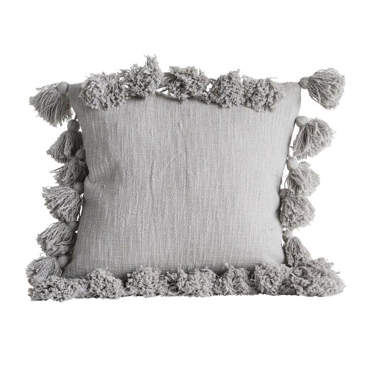 Chateau Cotton Cushion, Grey