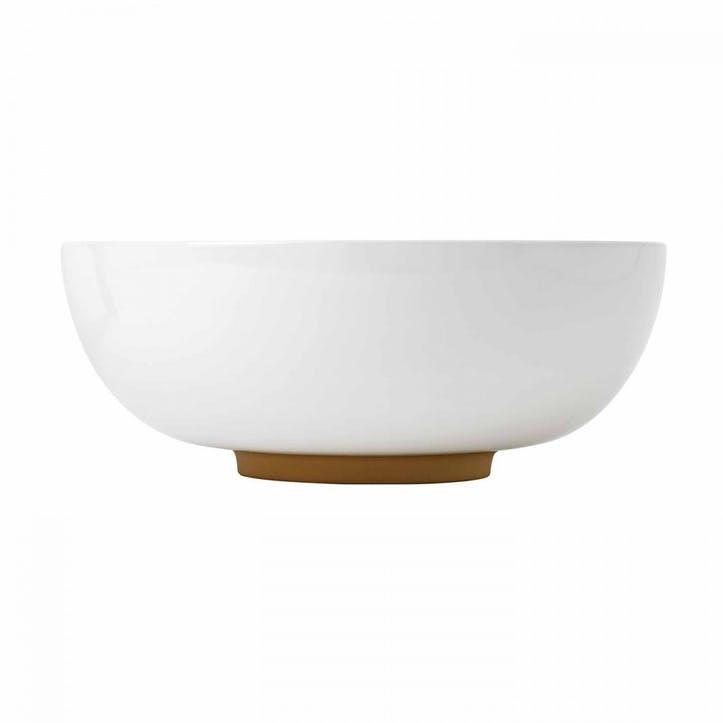Olio Serving Bowl White