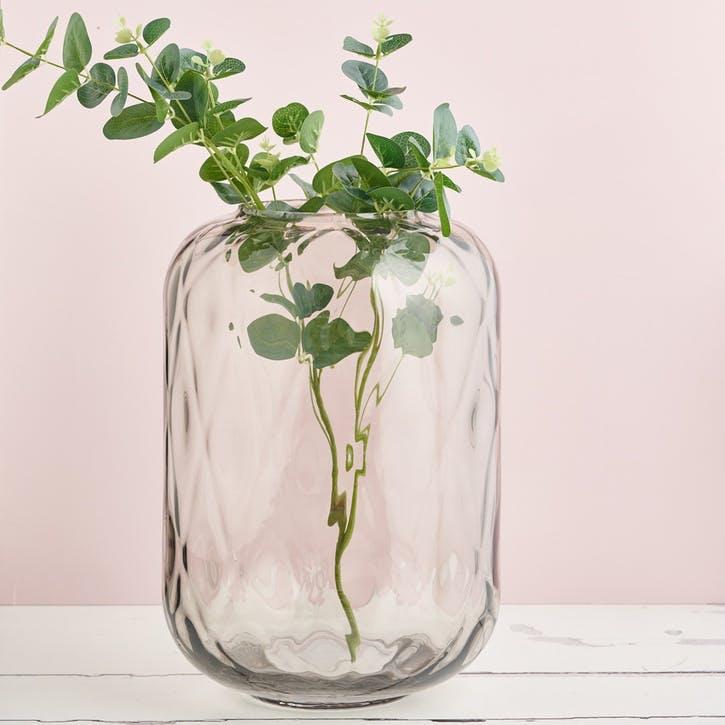 Glass Quadrant Vase - Large; Smoke Grey