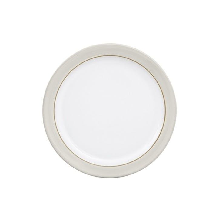 Natural Canvas Medium Plate, 22.5cm, Cream