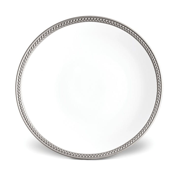 Soie Tressée Dessert Plate, Platinum