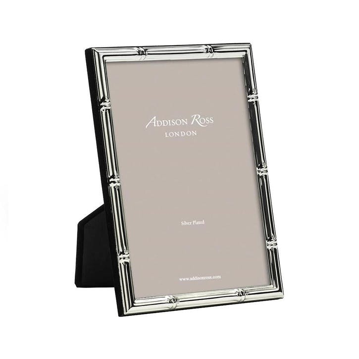 "Bamboo Silver Plated Photo Frame, 5"" x 7"""