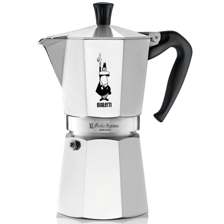 Moka Express Espresso Maker - 9 Cup; Silver