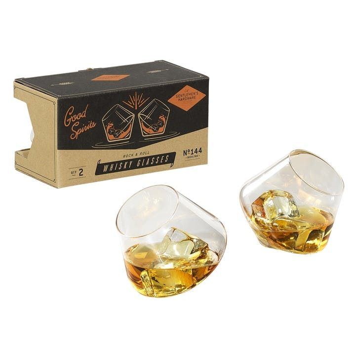 Gentlemen's Hardware Set of 2 Rocking Whisky Glasses