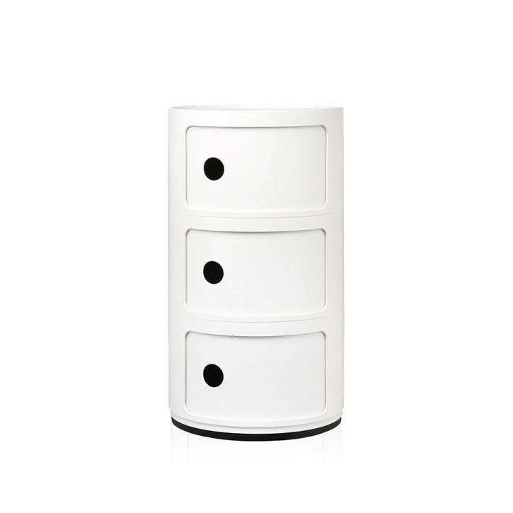 Componibili, 3 Door Cabinet, White