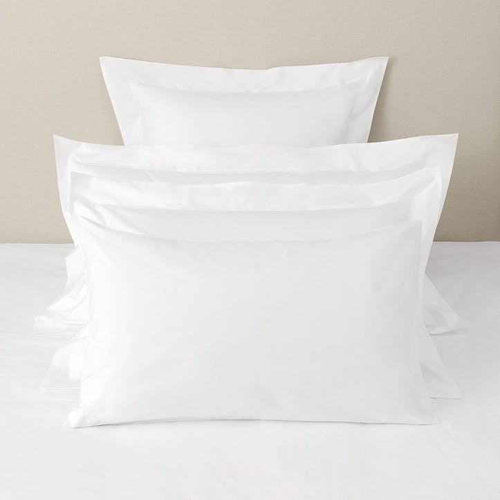 Savoy Housewife Pillowcase, Standard, White