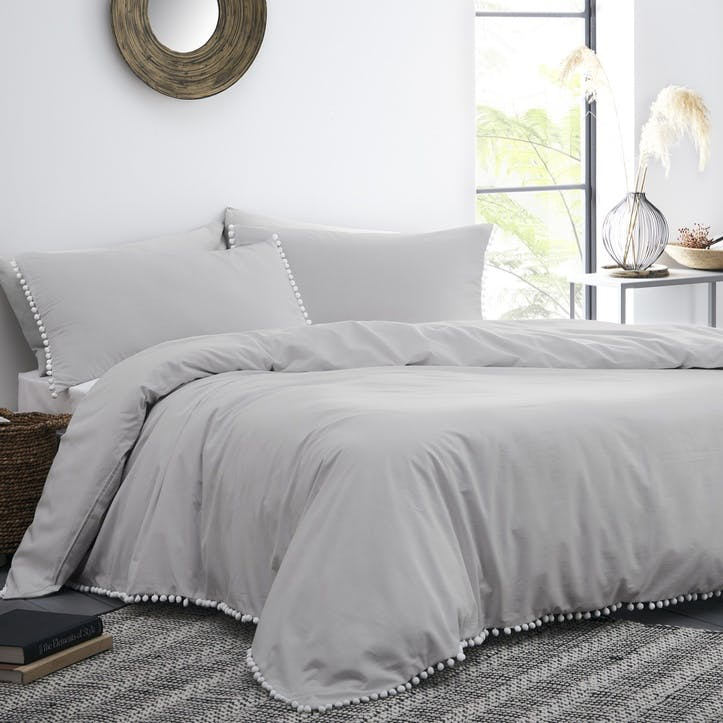 Grace Bedding Set, King, Silver