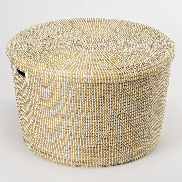 Round Storage Basket, Large, Natural