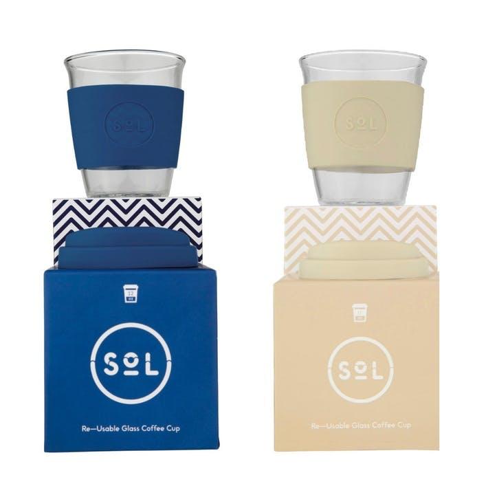 Coastal Blue Coffee Set, 12oz