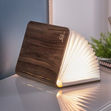 LED Smart Book Light, Standard, Walnut