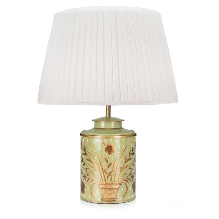Golden Bouquet Table Lamp and Silk Shade