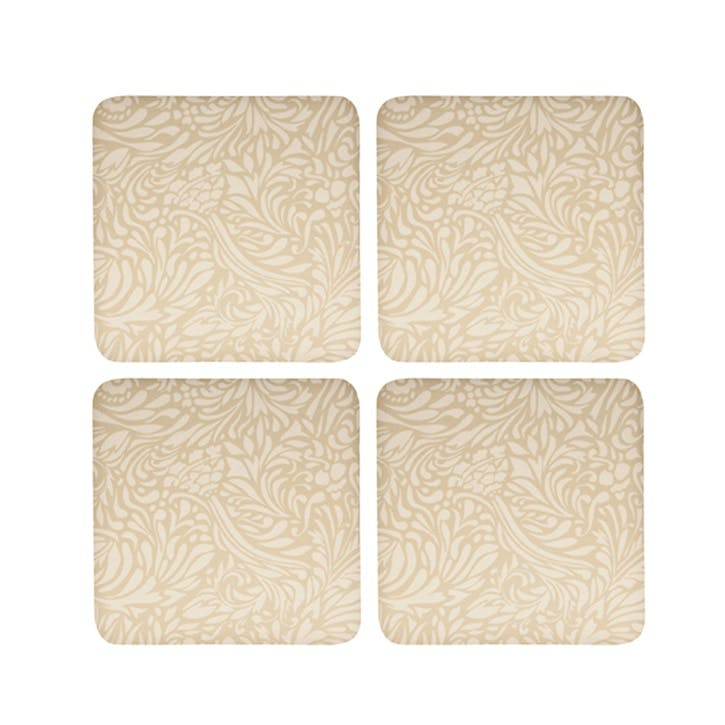 Lucille Gold Set of 4 Coasters, 10.5cm