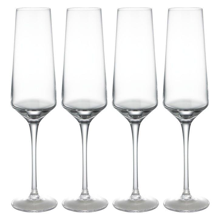 Hamburg Champagne Flute, Set of 4