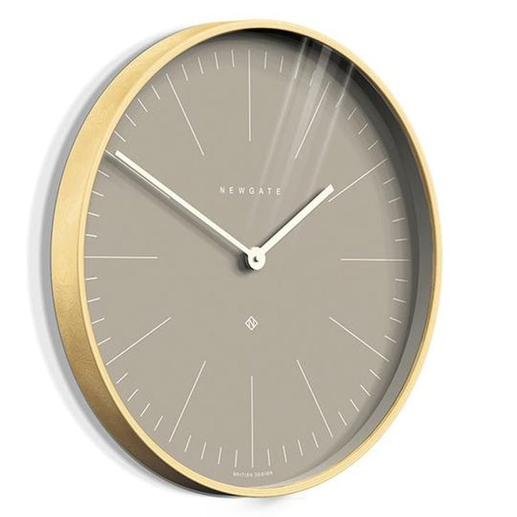 Mr Clarke Wall Clock, Clay Grey