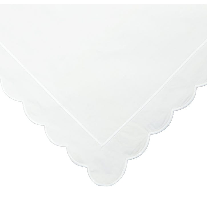 White Scalloped Double Duvet Cover