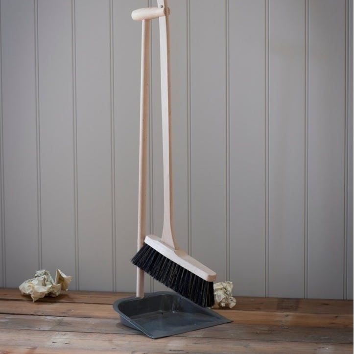 Dustpan and Brush with Beech Handle