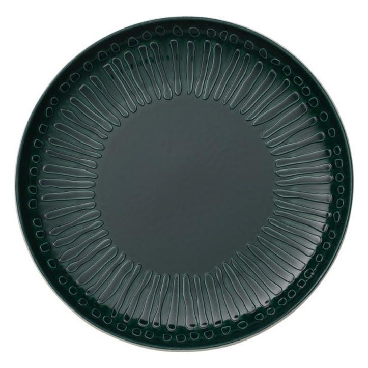 It's My Match Blossom Dinner Plate, Green