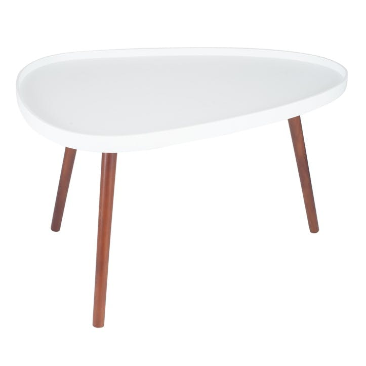Halston Teardrop Coffee Table, White
