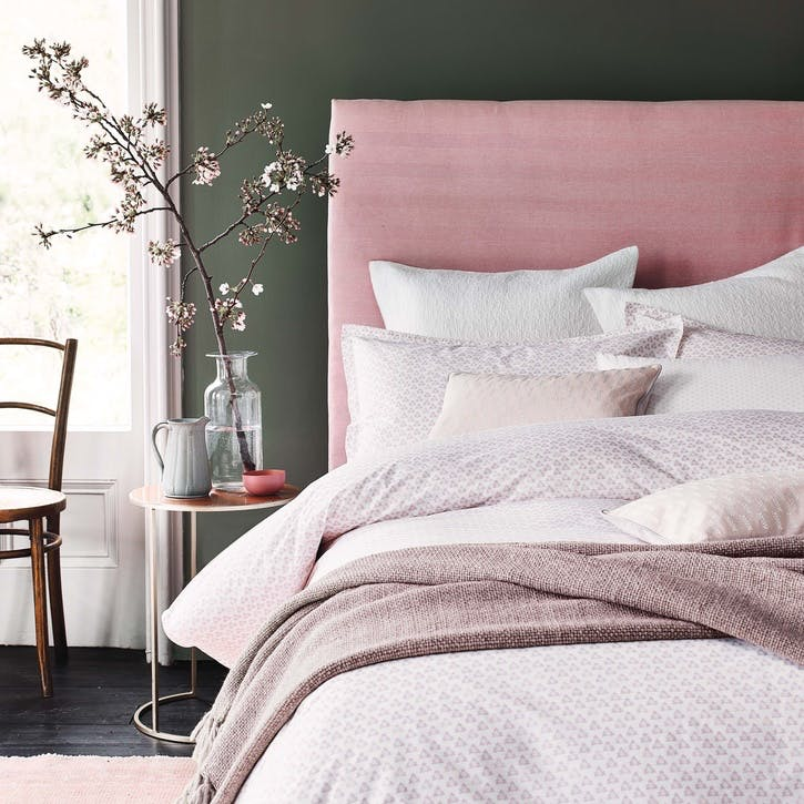 Tua King Duvet Set, Blush