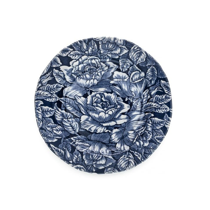 Ink Blue Hibiscus Medium Plate