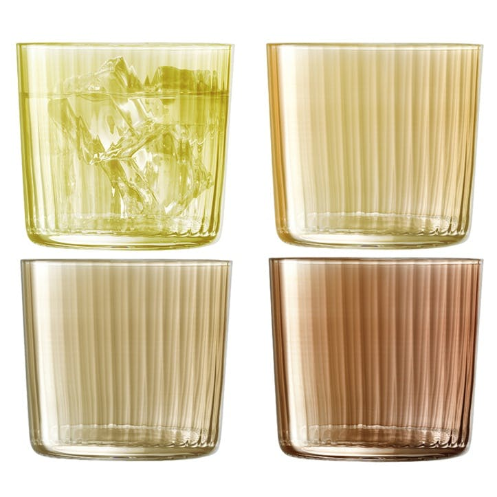 Gems Tumbler, Set of 4, Amber, 310ml