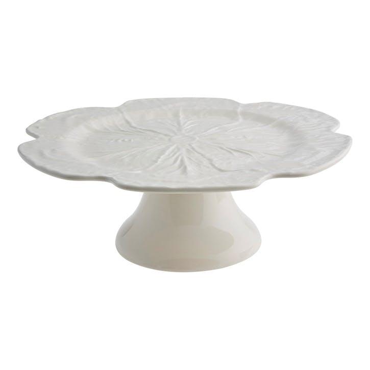 Cabbage Cake Stand, 31cm, Beige
