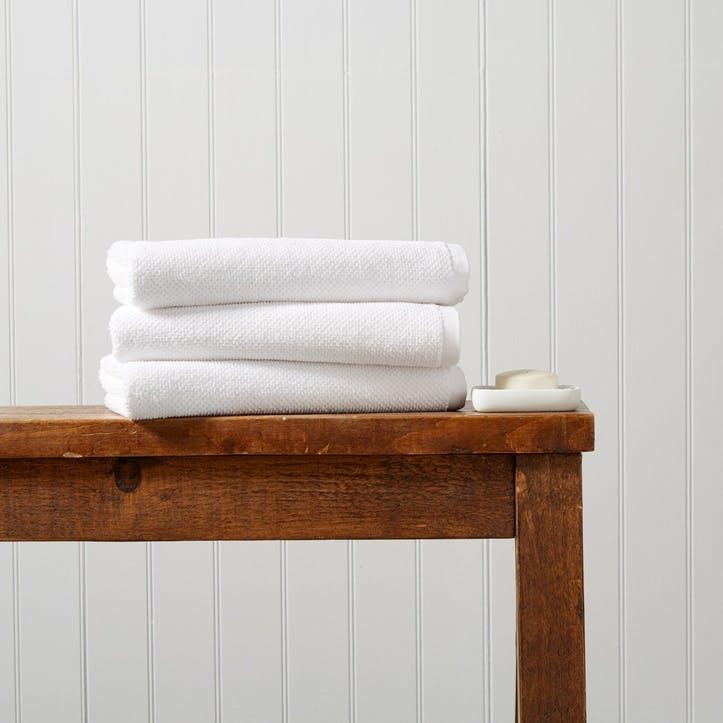 Brixton Hand Towel, White